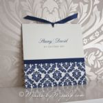 Damask Pocket Style Wedding Invitation
